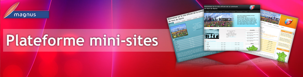 Plateforme mini-sites