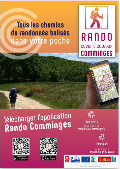 Affiche application géotrek Rando Comminges